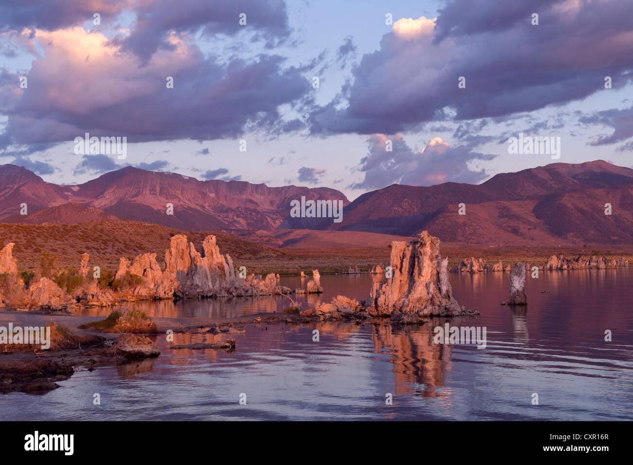 La formation de la roche de tuf, mono lake, California, USA Photo Stock