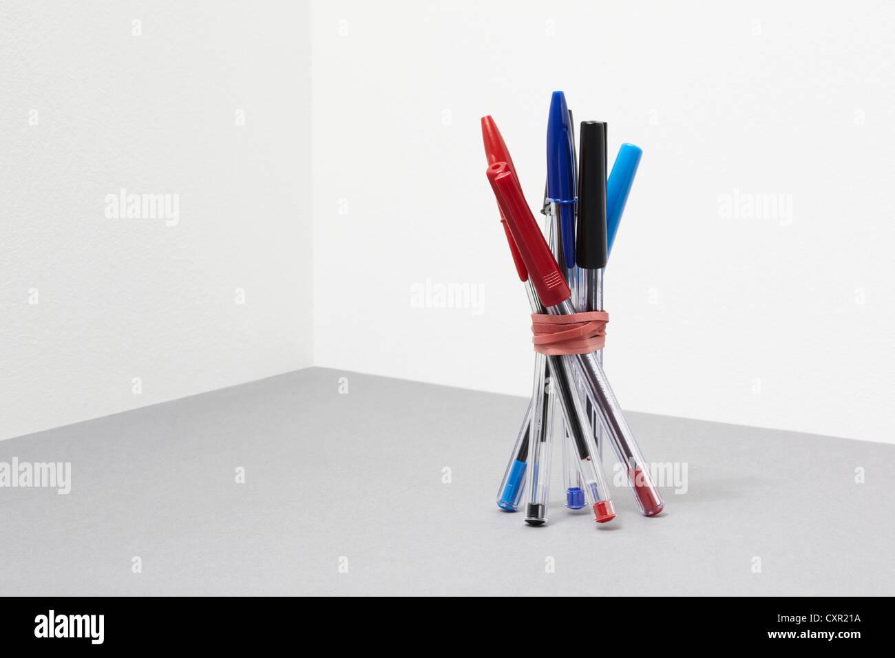 Ensemble de stylos Banque D'Images