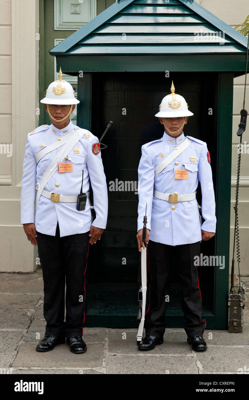 Protections, Royal Grand Palace, Bangkok, capitale de la Thaïlande, en Asie du Sud-Est, l'Asie Photo Stock