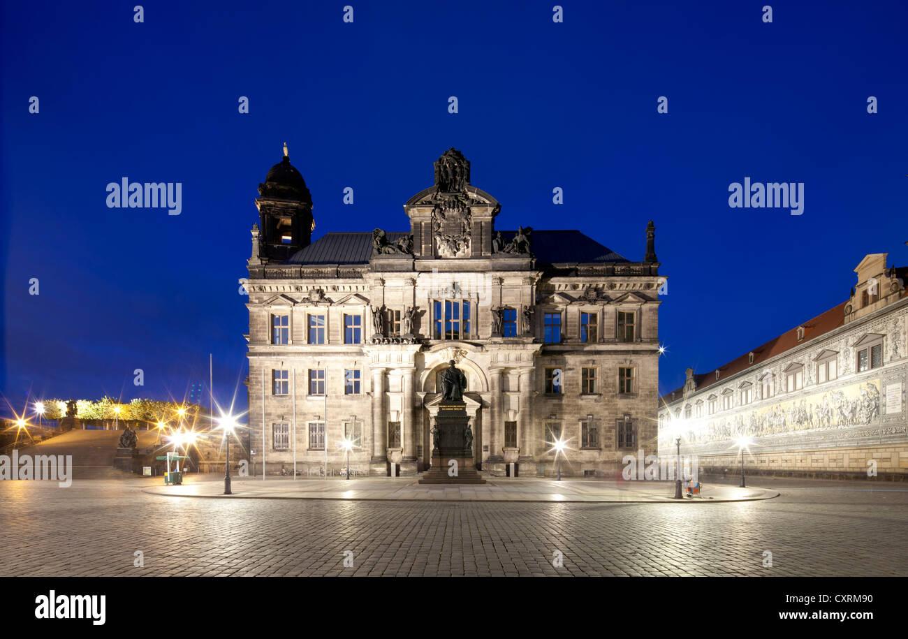 Bureau de la conservation de l'État, Cour d'appel de Saxe, ex-Staendeshaus construction de la Saxe, Photo Stock