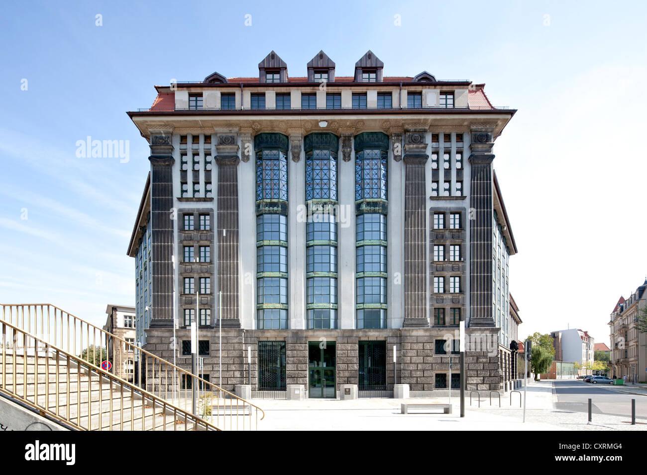 Archives de l'État principal Saxon, Neustadt, Dresde, Saxe, Allemagne, Europe, PublicGround Photo Stock