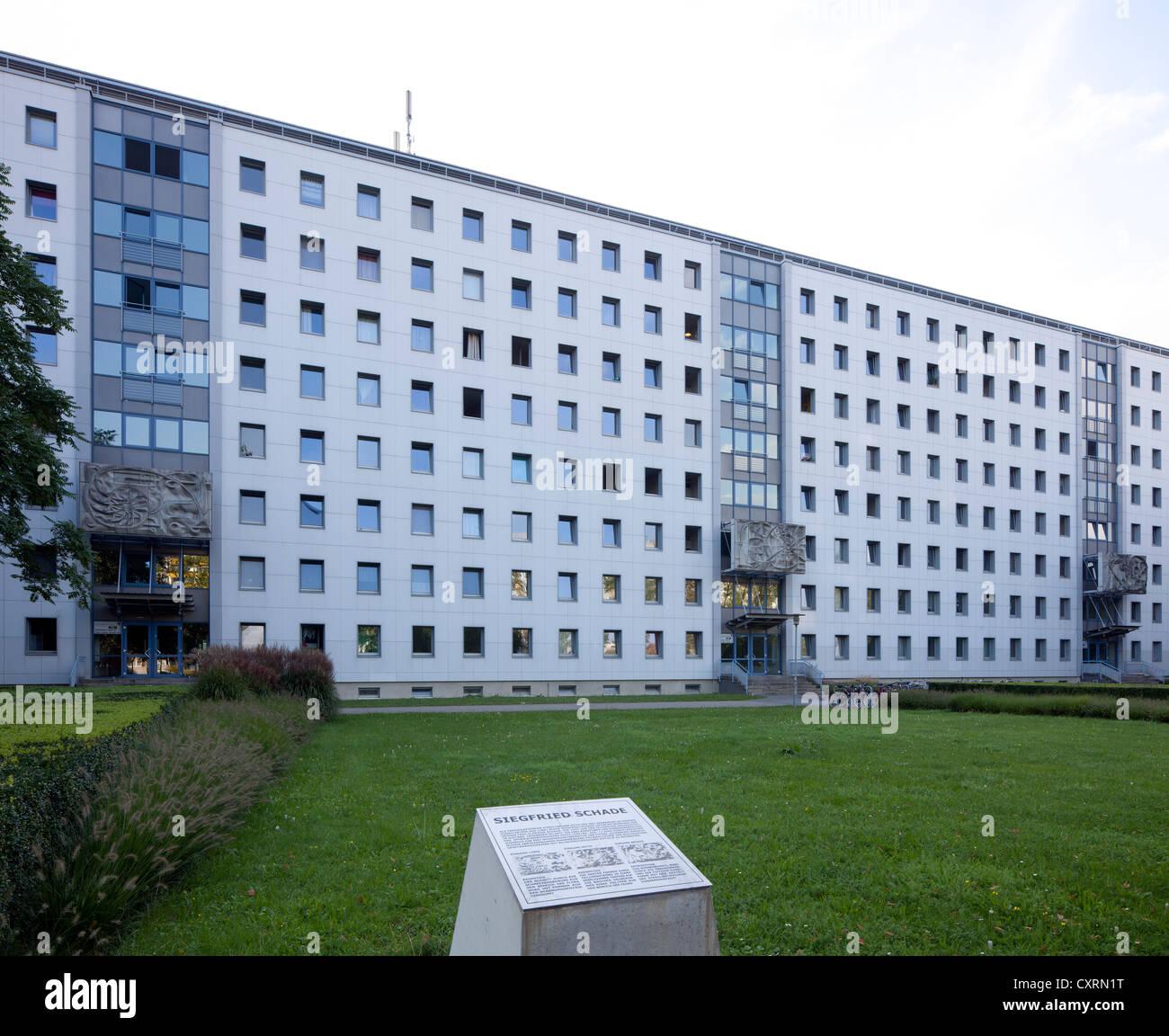 Auberge des élèves, de l'union des étudiants de Dresde, Université de technologie de Dresde, Photo Stock