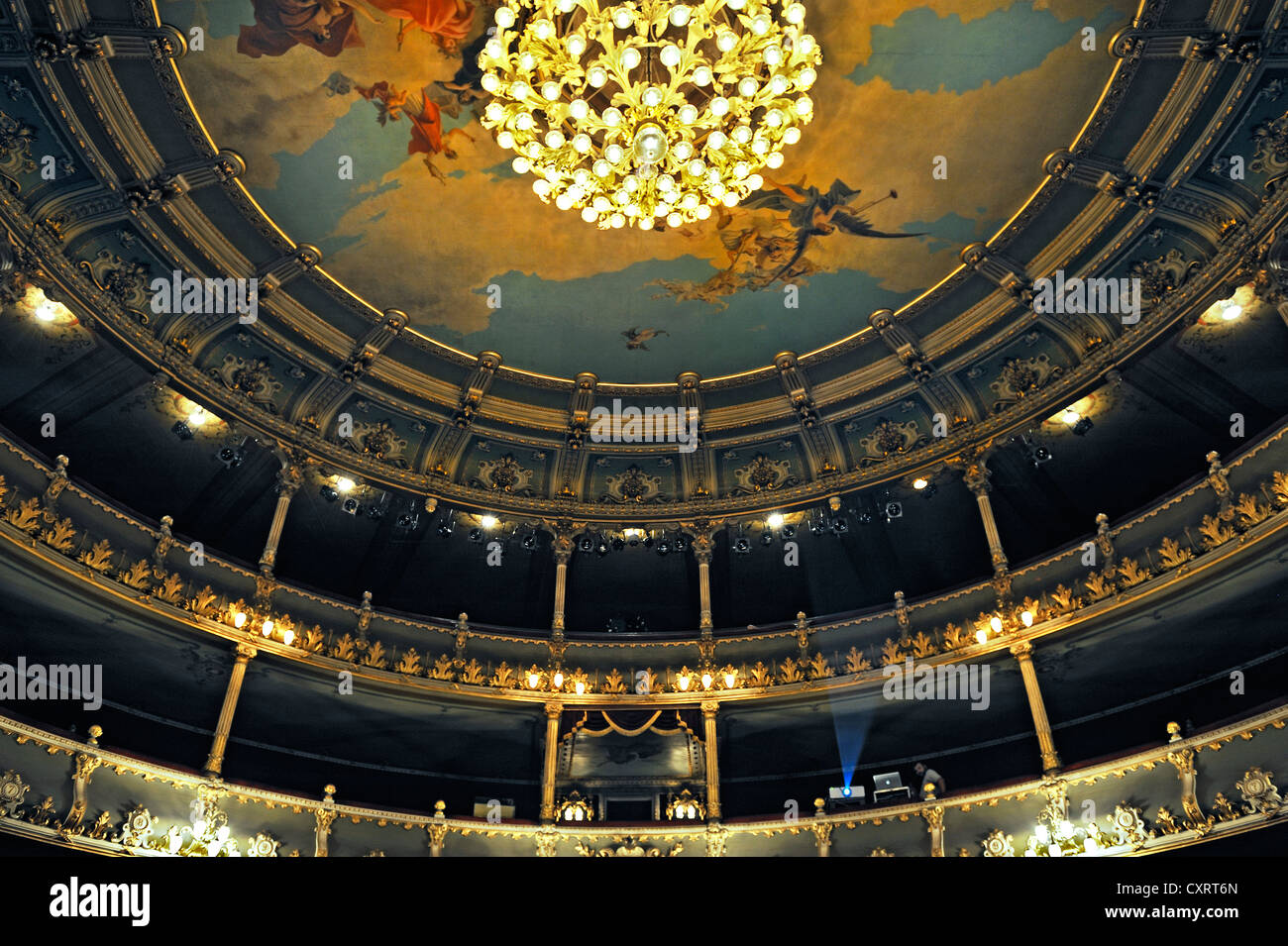 Théâtre National, San Jose, Costa Rica, Amérique Centrale Photo Stock