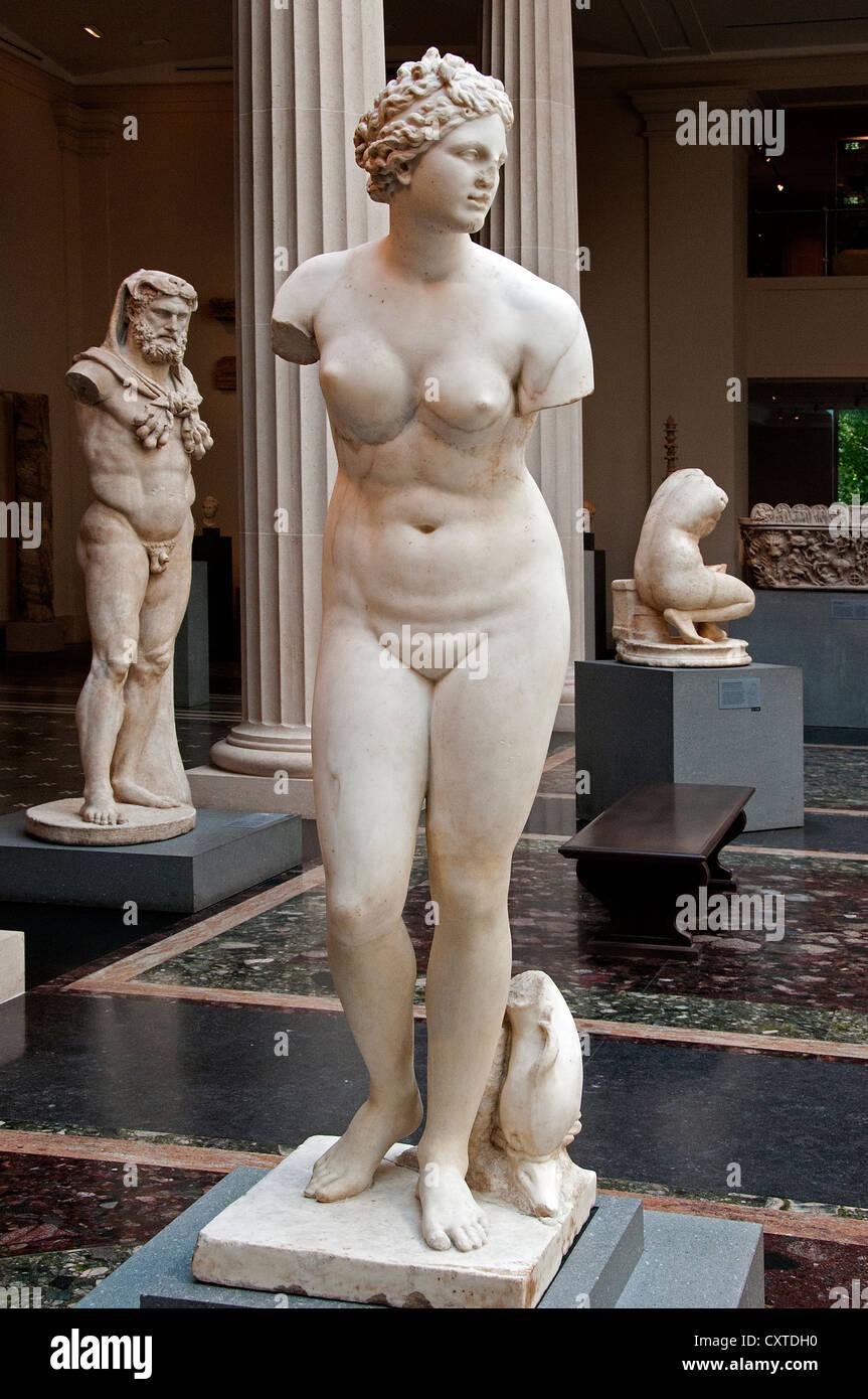 Statue en marbre d'Aphrodite période romaine 1er - 2e siècle ap. Photo Stock