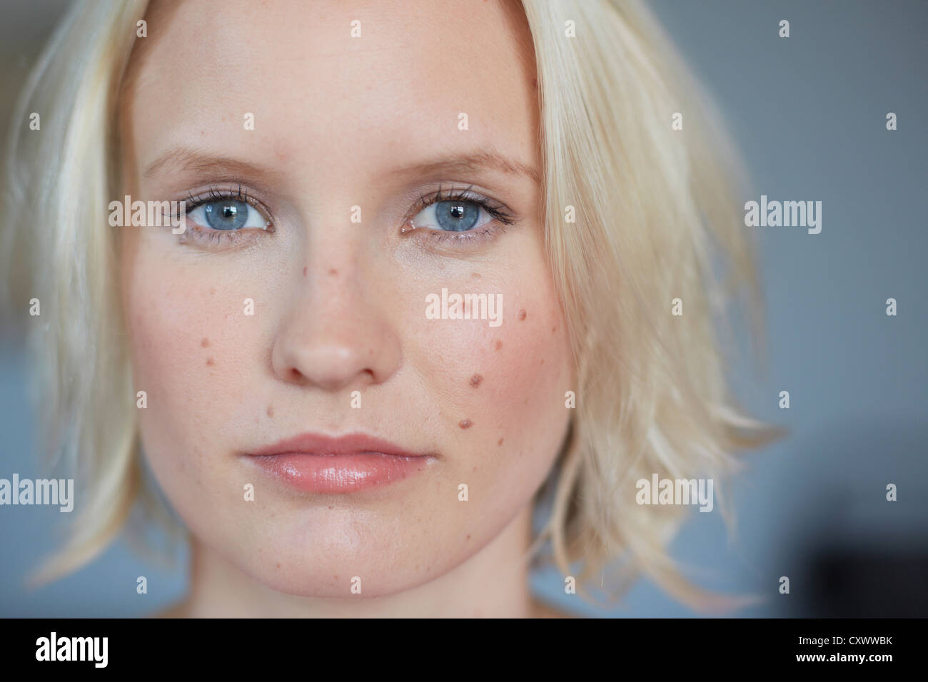 Close up of woman's face Photo Stock