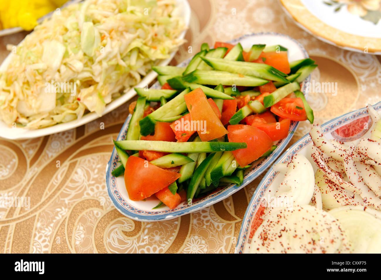 Légumes marinés, de la nourriture, de l'acre ou d'Acre, Israël, Moyen Orient Photo Stock