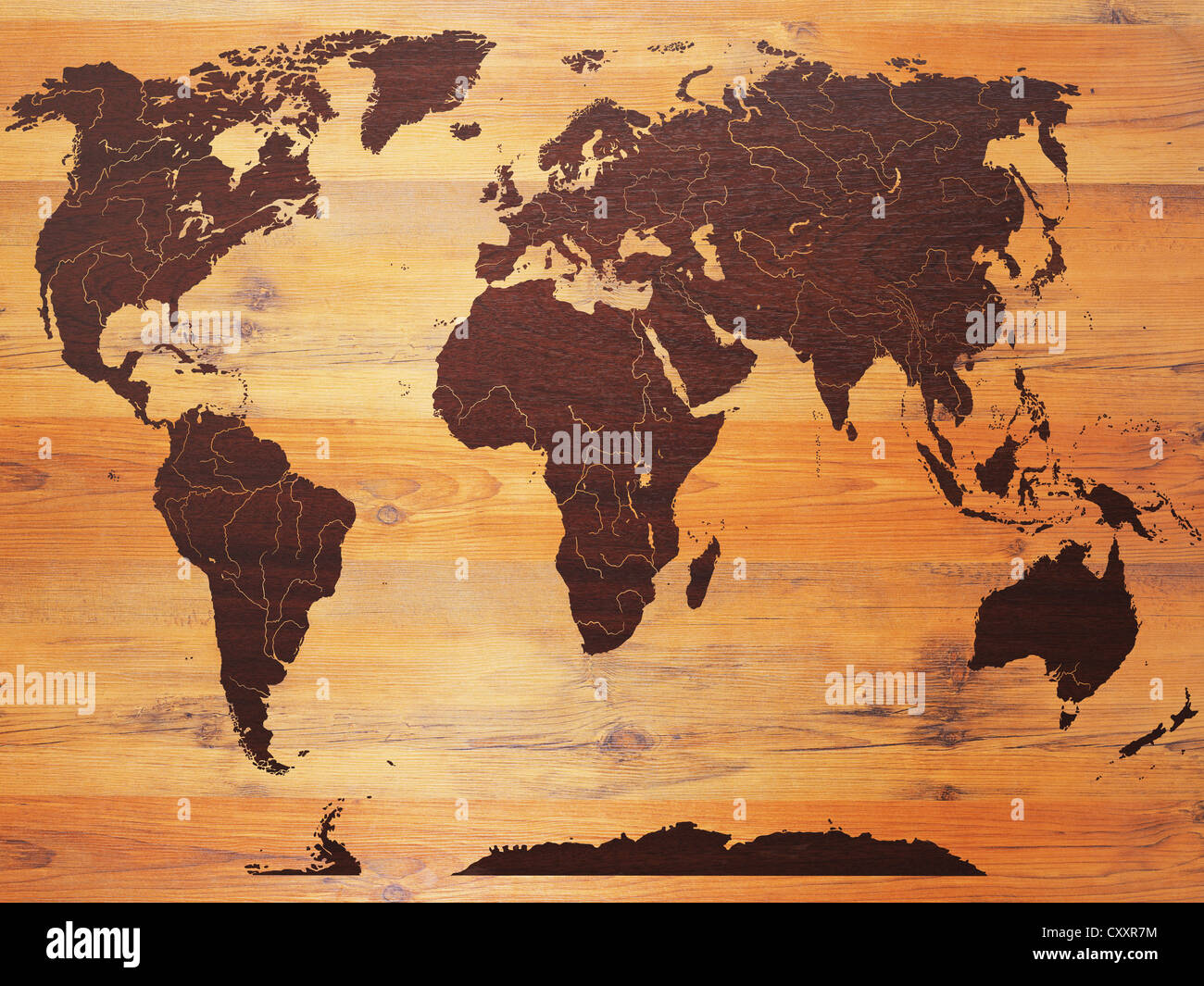 carte du monde sur bois banque d 39 images photo stock 50990792 alamy. Black Bedroom Furniture Sets. Home Design Ideas
