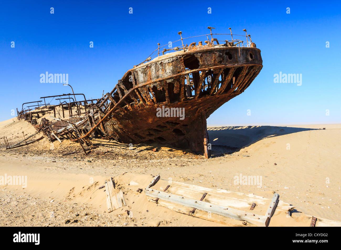Eduard Bohlen Naufrage, Désert du Namib, le Namib Naukluft Park, Namibie, Afrique Photo Stock