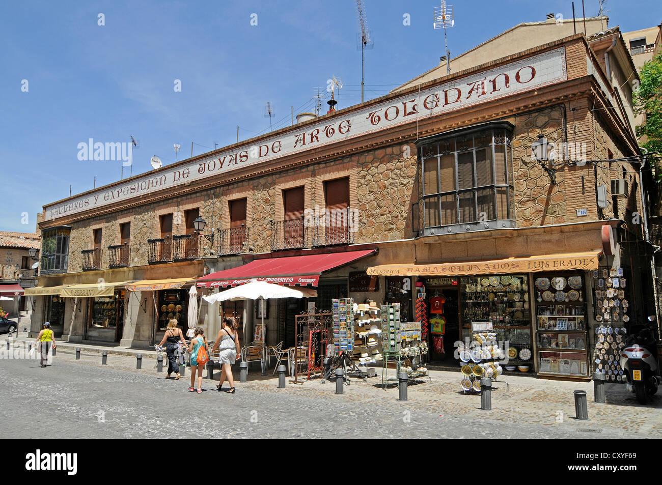 Boutiques de souvenirs, Vieille Ville, Toledo, Castille-La Manche, Espagne, c8b75b44e8c