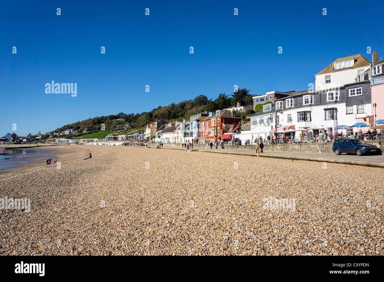 Plage de Lyme Regis, dans le Dorset, UK Banque D'Images