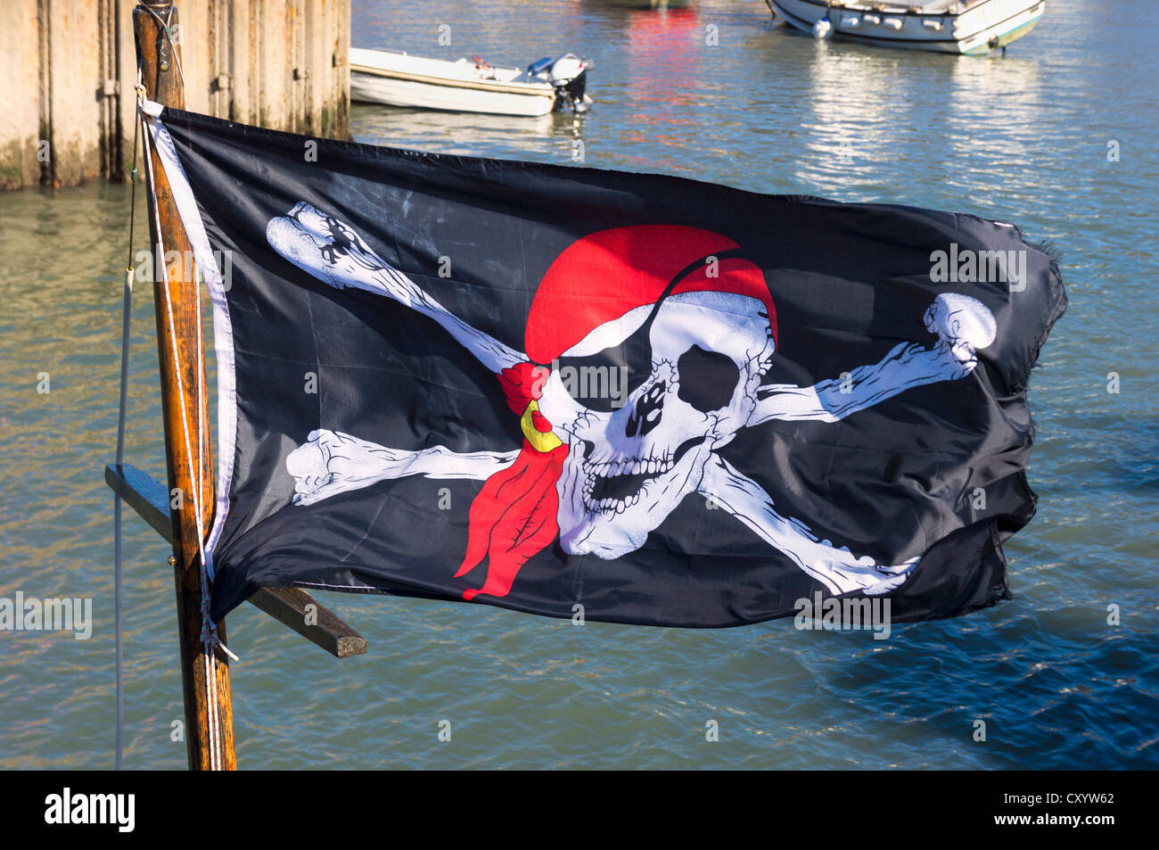 Jolly Roger drapeau, UK Photo Stock