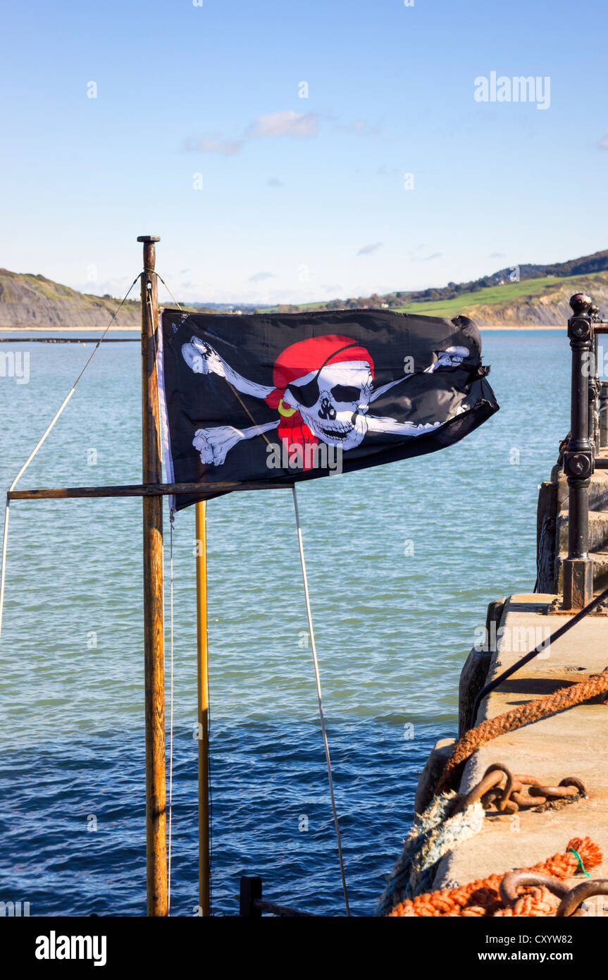 Drapeau pirate Jolly Roger - drapeau, UK Photo Stock