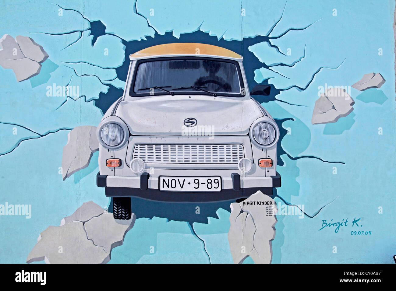 Le meilleur test, Birgit Kinder, reste du mur de Berlin, East Side Gallery, Berlin Photo Stock