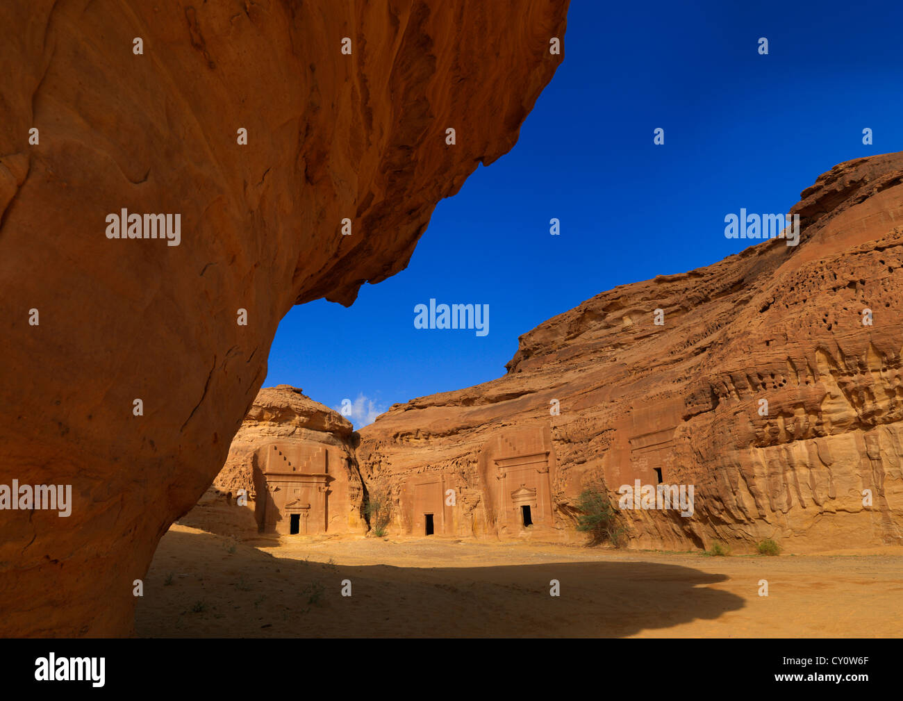 Madain Saleh Site archéologique, l'Arabie Saoudite Photo Stock