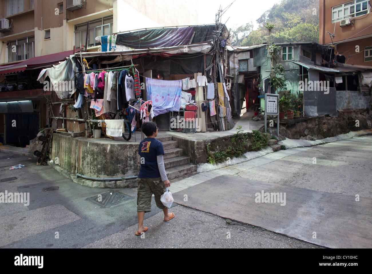 La pauvreté à Hongkong Photo Stock
