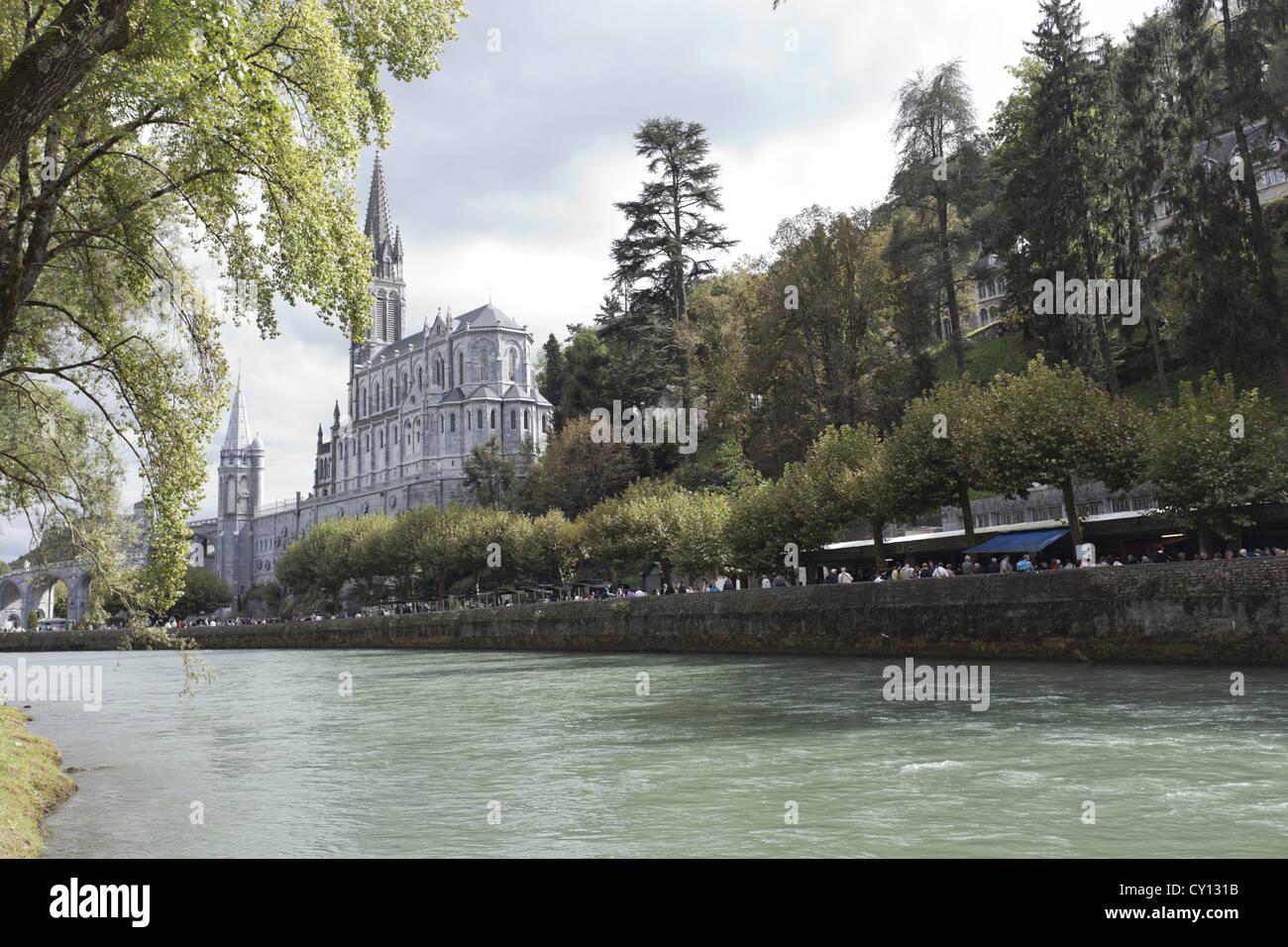 Pyrénées, Lourdes, lieu de pèlerinage Banque D'Images