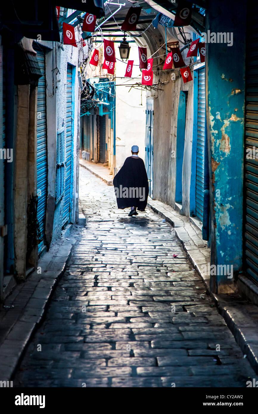 Médina de Tunis, Tunis, Tunisie Photo Stock