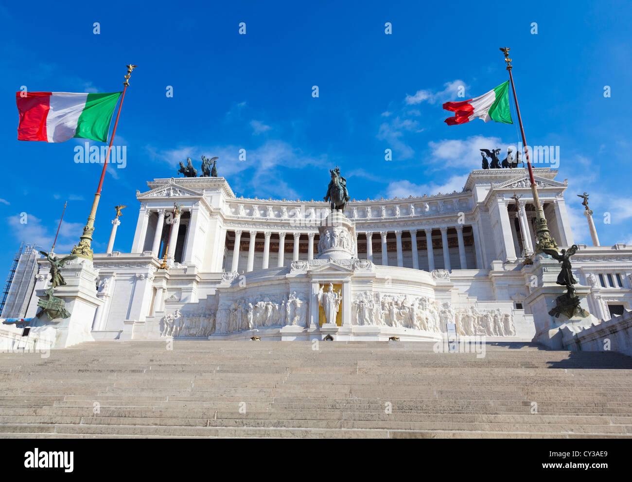 Le monument Vittoriano à Rome, Italie alias 'Altare della Patria' Photo Stock