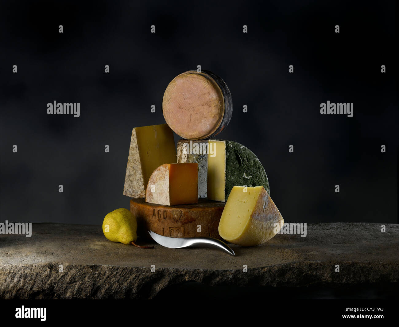 Sélection de fromages Photo Stock