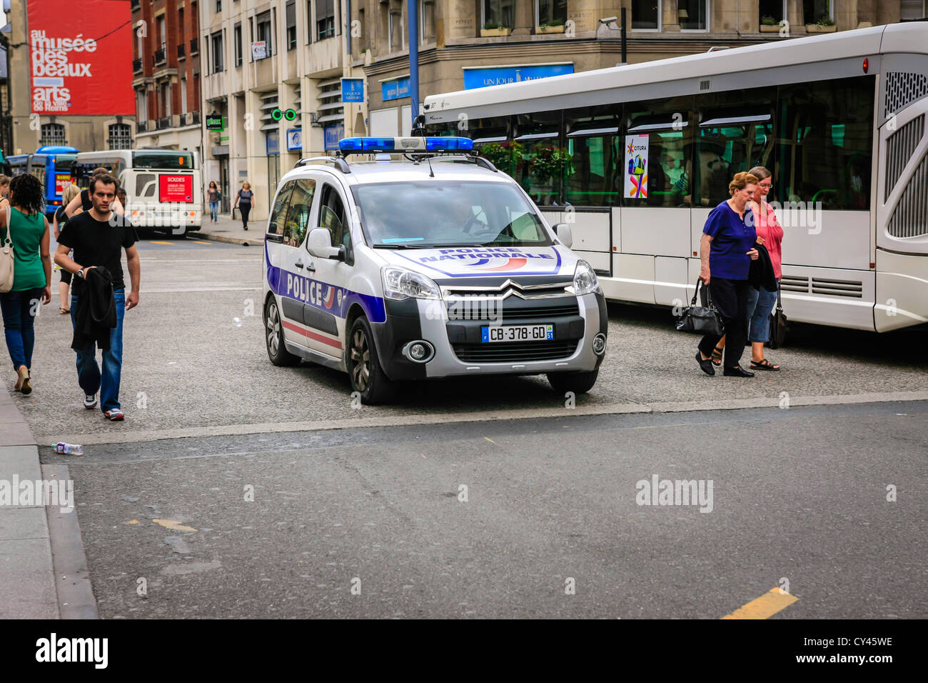 french police car photos french police car images alamy. Black Bedroom Furniture Sets. Home Design Ideas