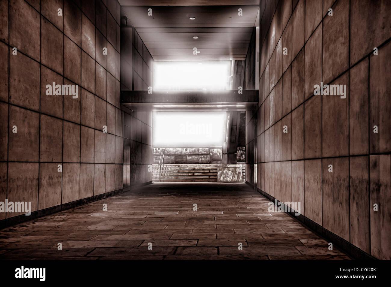 Passage atmosphérique dans City of london Photo Stock
