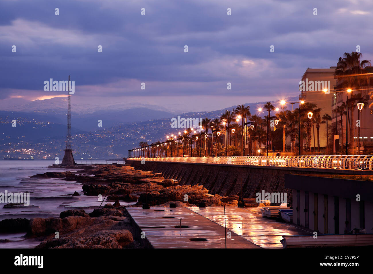 L'architecture du centre-ville de Beyrouth Photo Stock