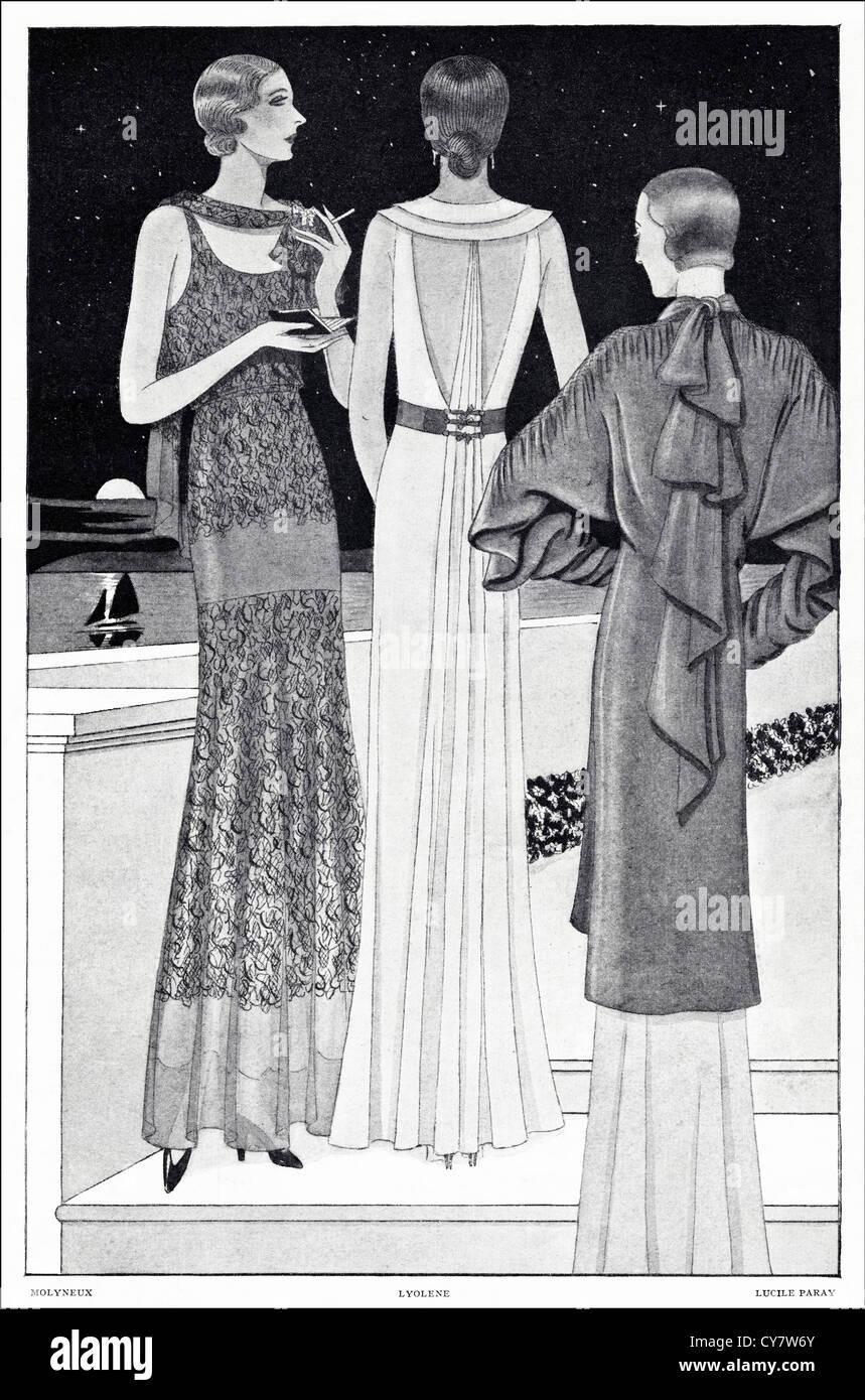 1930 Original Illustration De Magazine De Mode D Ete De Paris A