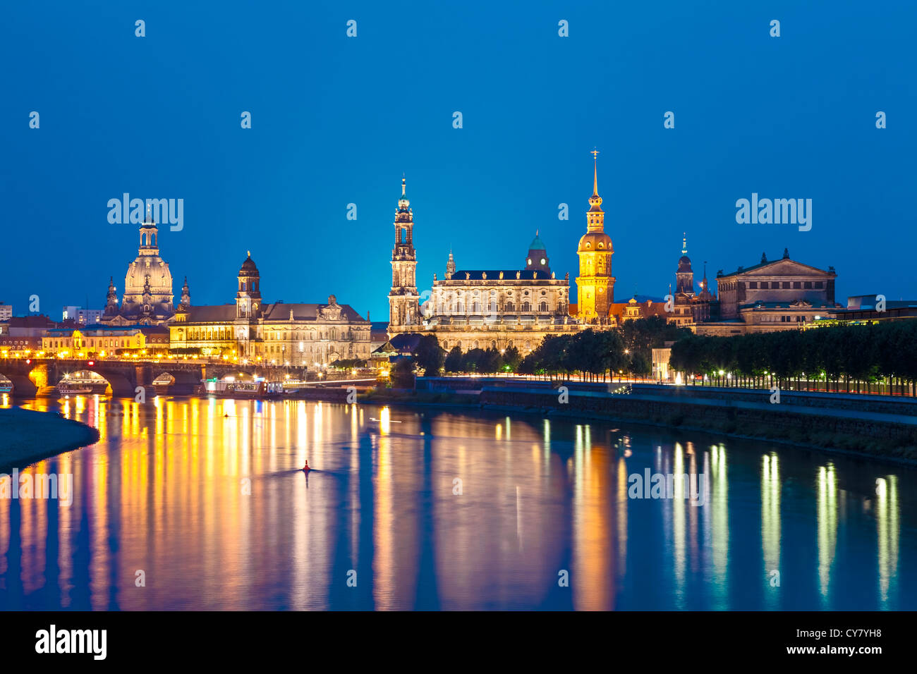 Toits de Dresde, Allemagne Photo Stock