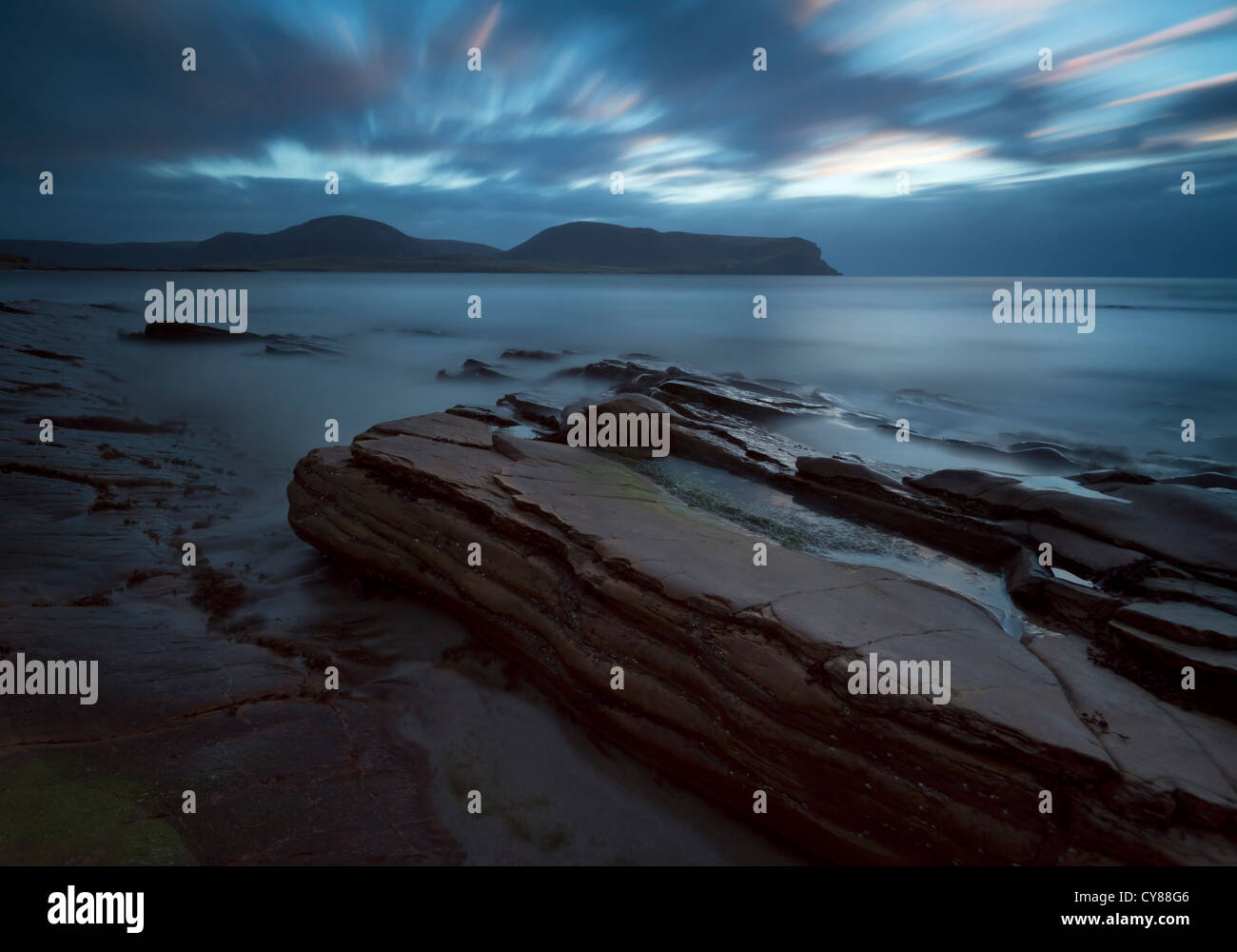 Orkney Islands seascape à l'égard Hoy Photo Stock