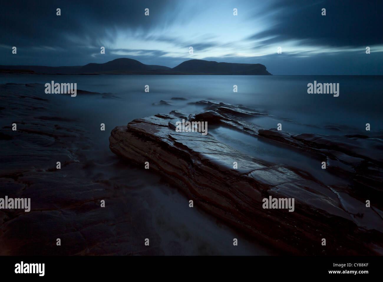 Seascape rêveur sur l'Orkney Photo Stock