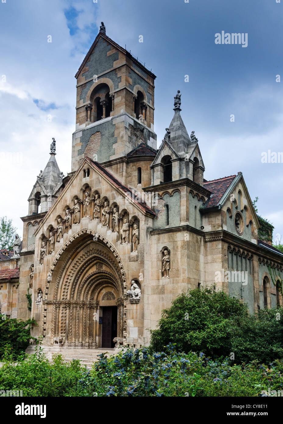 Chapelle Jak à Budapest, architecture de style gohtic Photo Stock