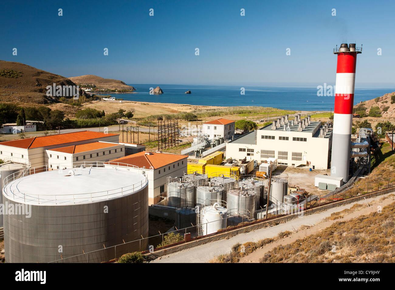 Une centrale électrique diesel produisant de l électricité pour l île de  Lemnos, 3b8f8a626fe4
