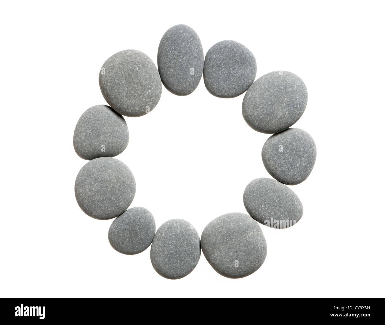 Cercle de pierres. Découpe. Photo Stock