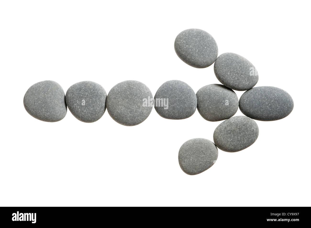 Flèche de pierres. Photo Stock