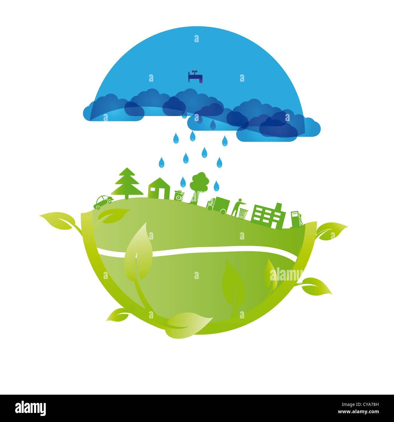 Ecology concept vous pouvez utiliser le jour de la Terre Photo Stock