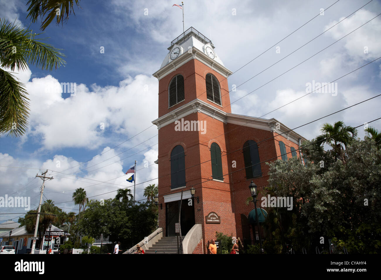 Chambre de commerce de Key West en Floride usa centre des visiteurs Photo Stock