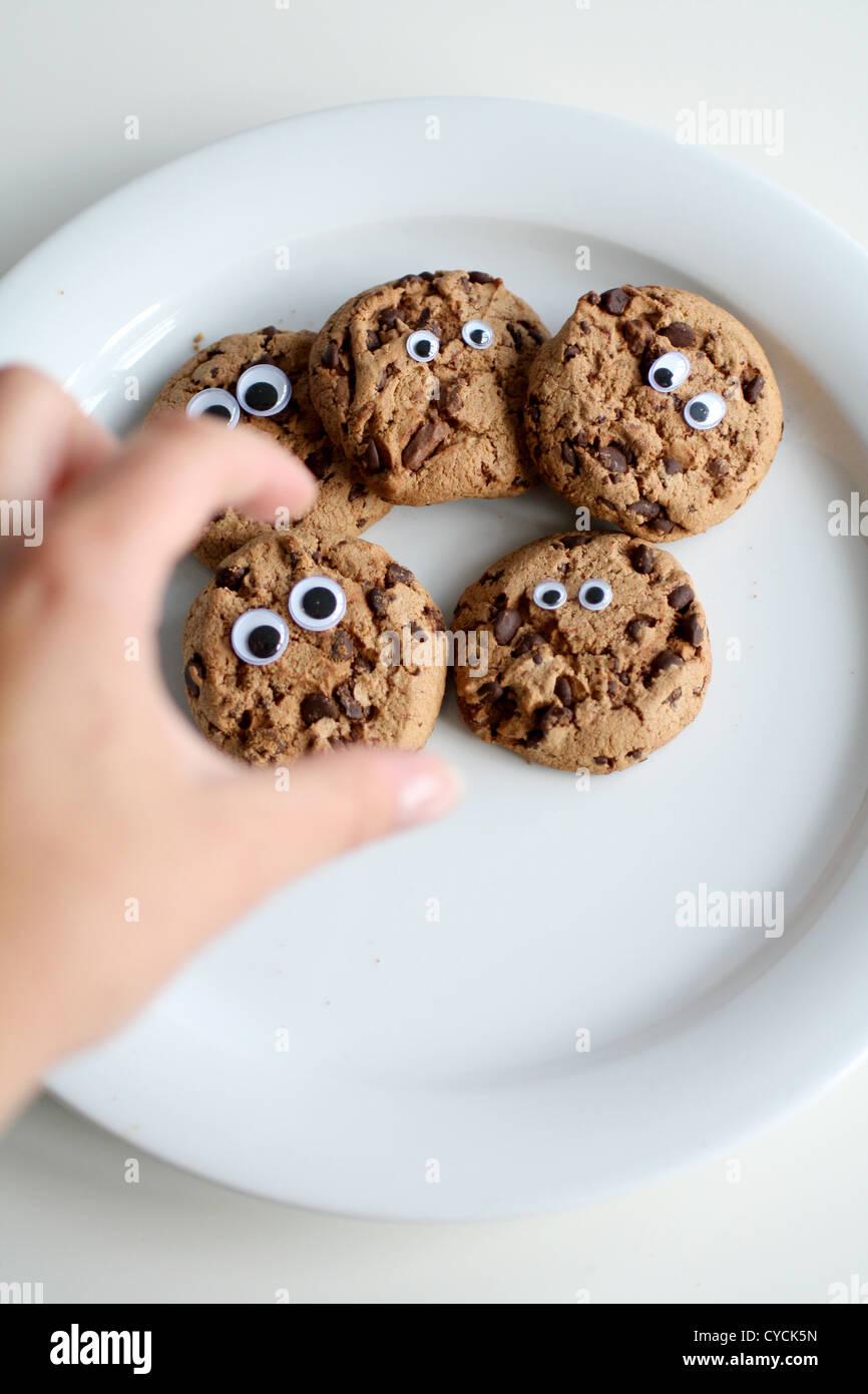Biscuit chocolat,cookies au chocolat,cookie Photo Stock