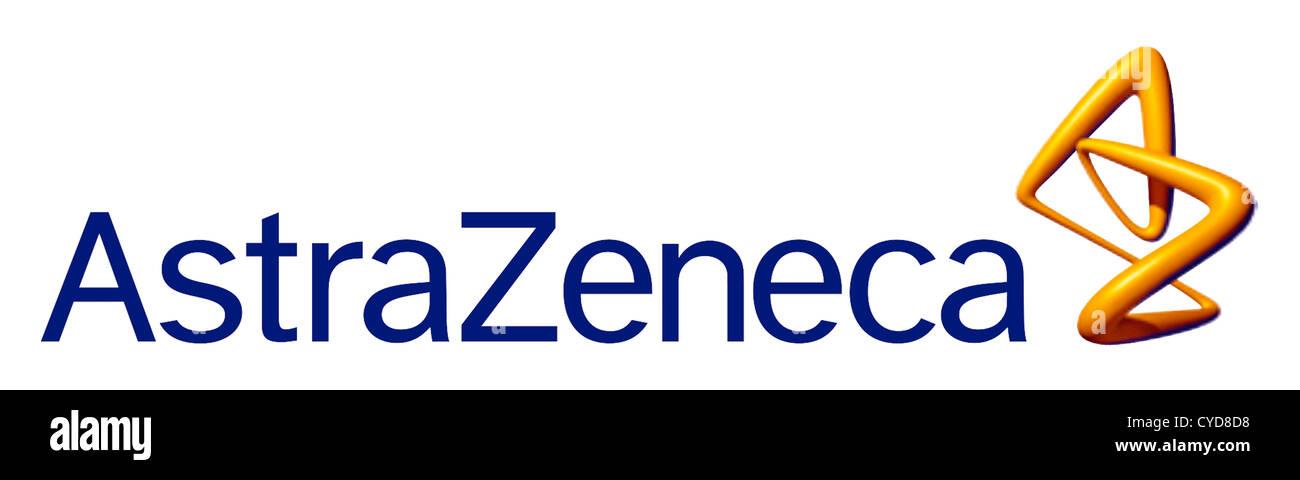 Logo de la société pharmaceutique britannique AstraZeneca avec siège à Londres. Photo Stock
