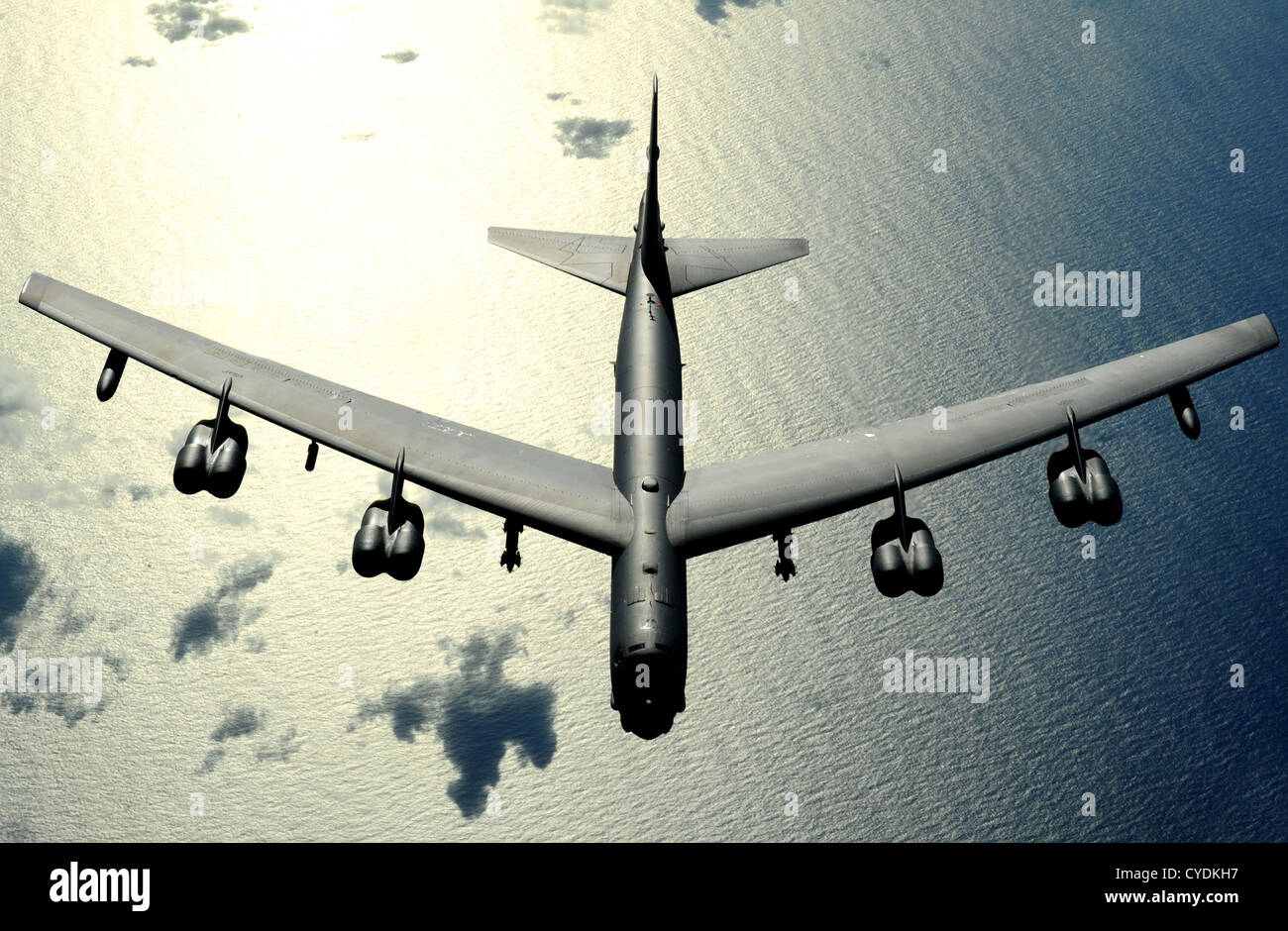 L'US Air Force B-52 Stratofortress en vol le 13 novembre 2008 sur Guam. Banque D'Images