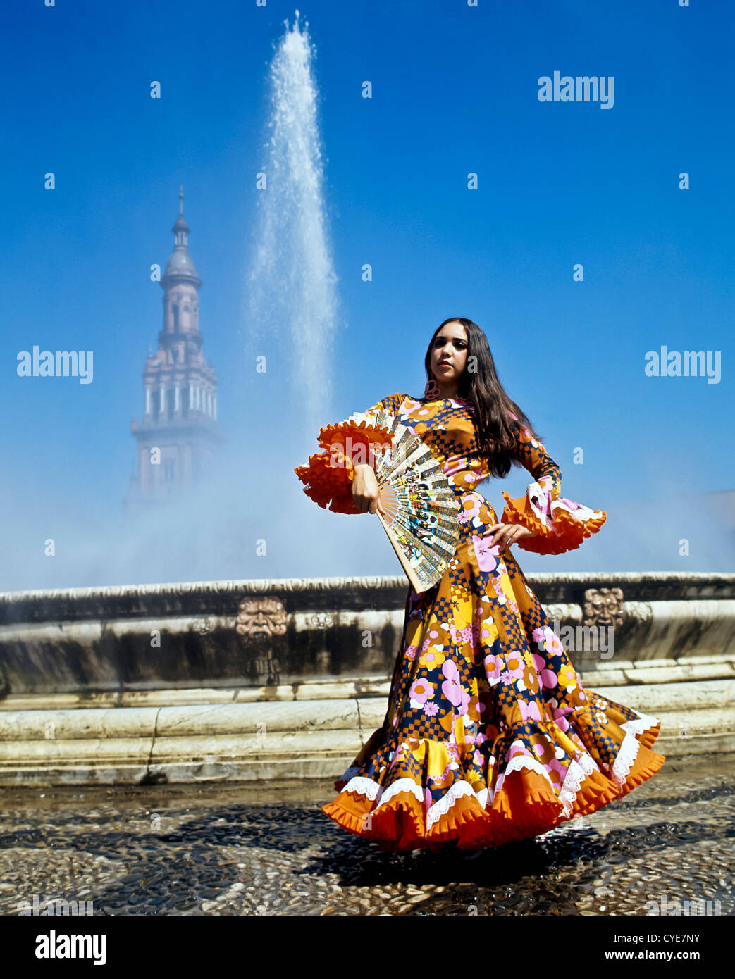 8333. Danseuse de Flamenco, Séville, Espagne, Europe Photo Stock