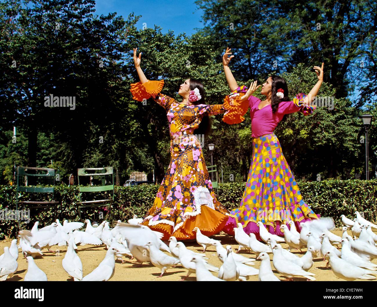 8337. Danseurs de Flamenco, Séville, Espagne, Europe Photo Stock