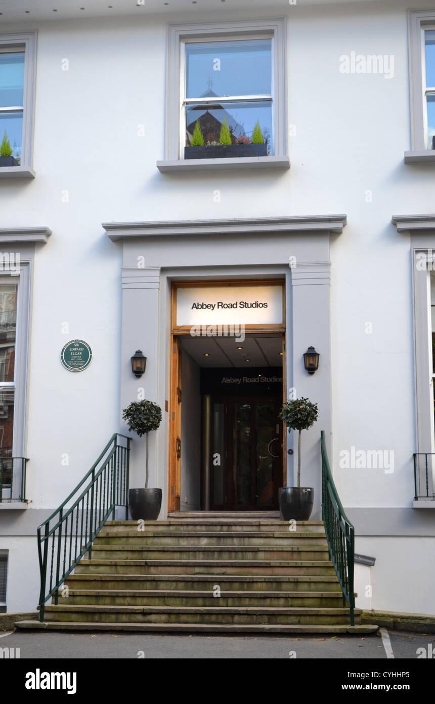 Les studios Abbey Road, Londres. Rendu célèbre par l'album Abbey Road des Beatles. Banque D'Images