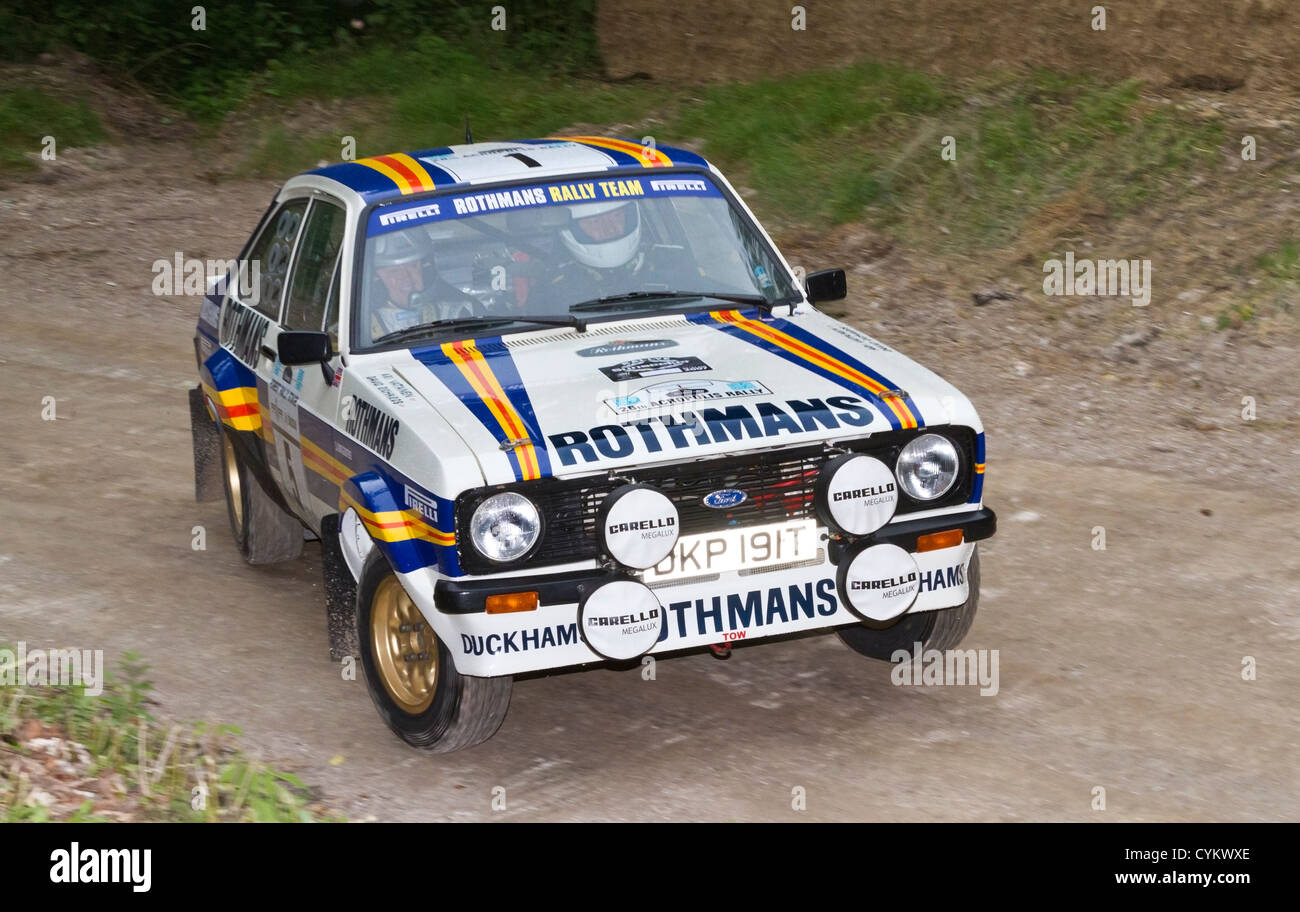1979 ford escort mk2 rs1800 rally voiture avec chauffeur andrew haddon au goodwood festival of speed