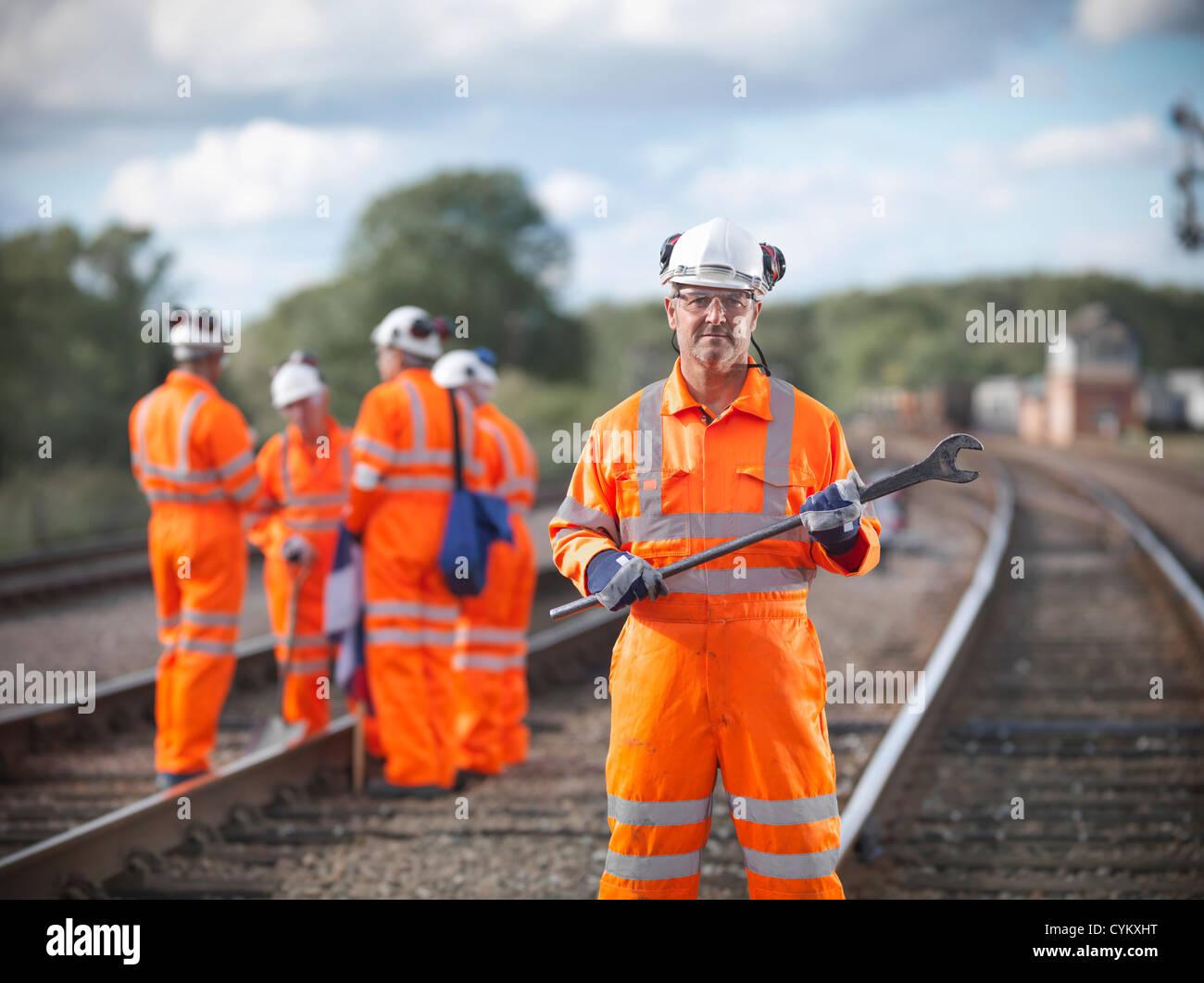 Clé comptable employé des chemins de fer Photo Stock