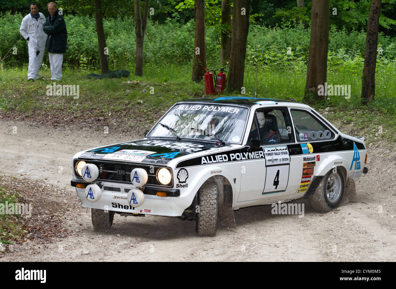 1975 ford escort mk2 rs1800 rally voiture avec chauffeur david watkins au goodwood festival of speed