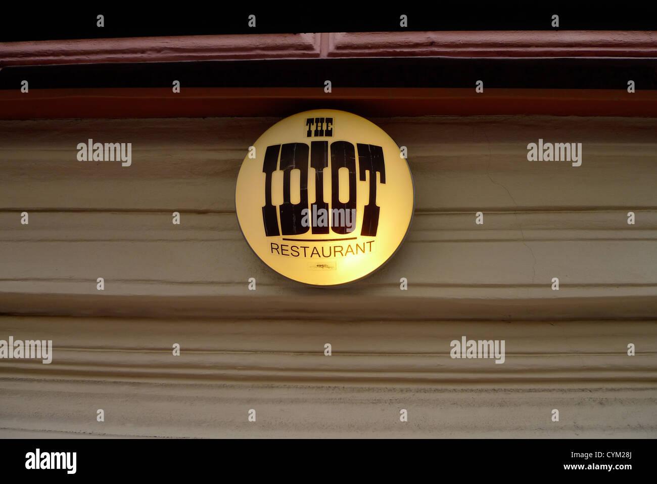 Restaurant l'idiot. Photo Stock