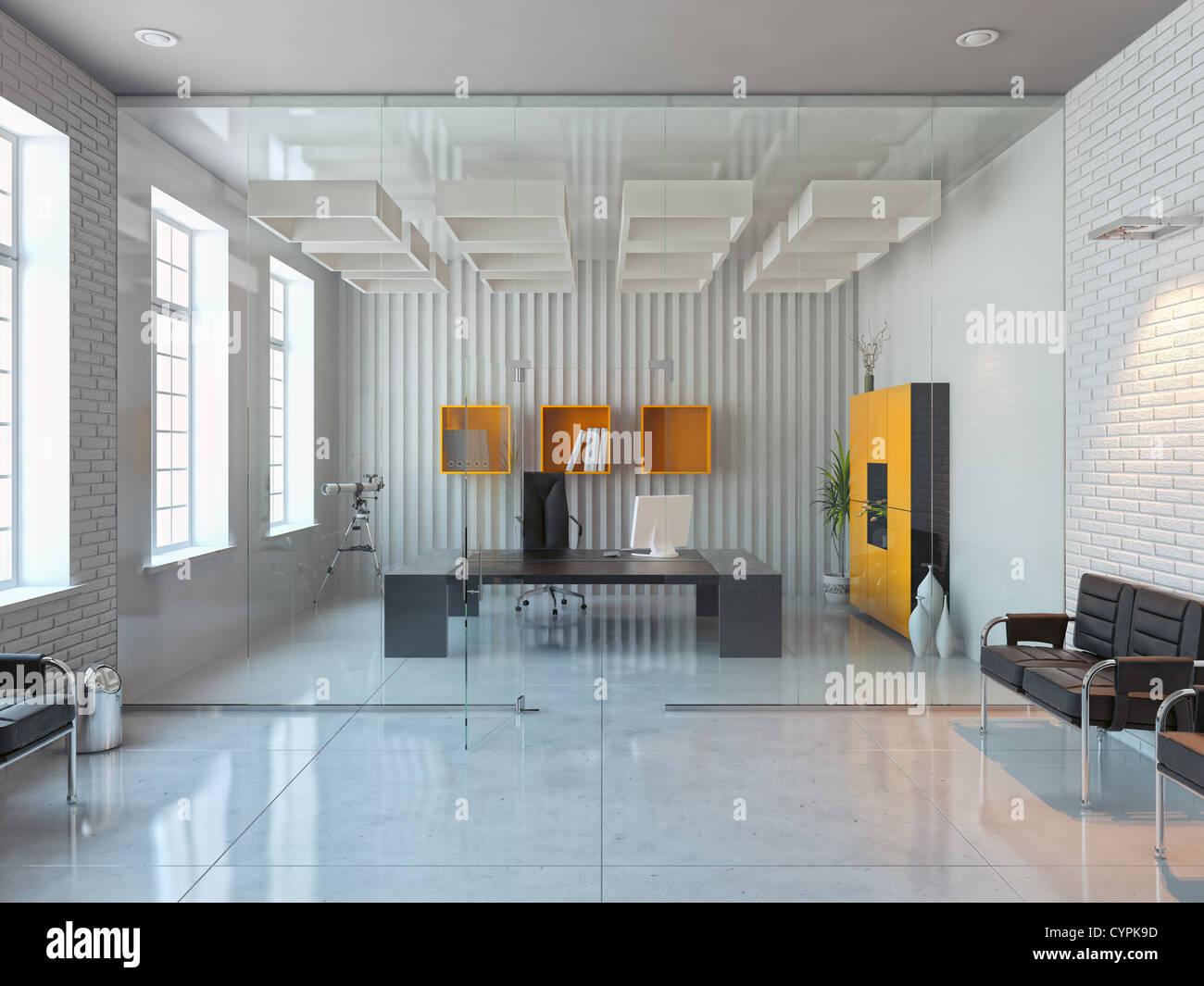 Design intérieur moderne bureau de prix d render banque d images
