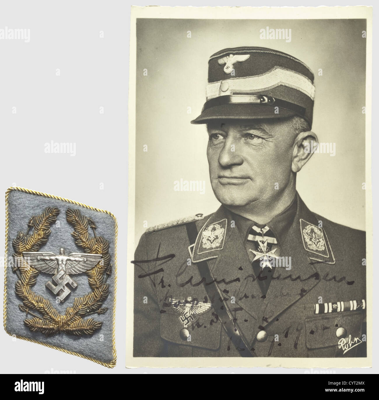 Friedrich Christiansen (1879 - 1972), un collier son pour un national-socialiste (NSFK Flying Corps) corps toile Photo Stock
