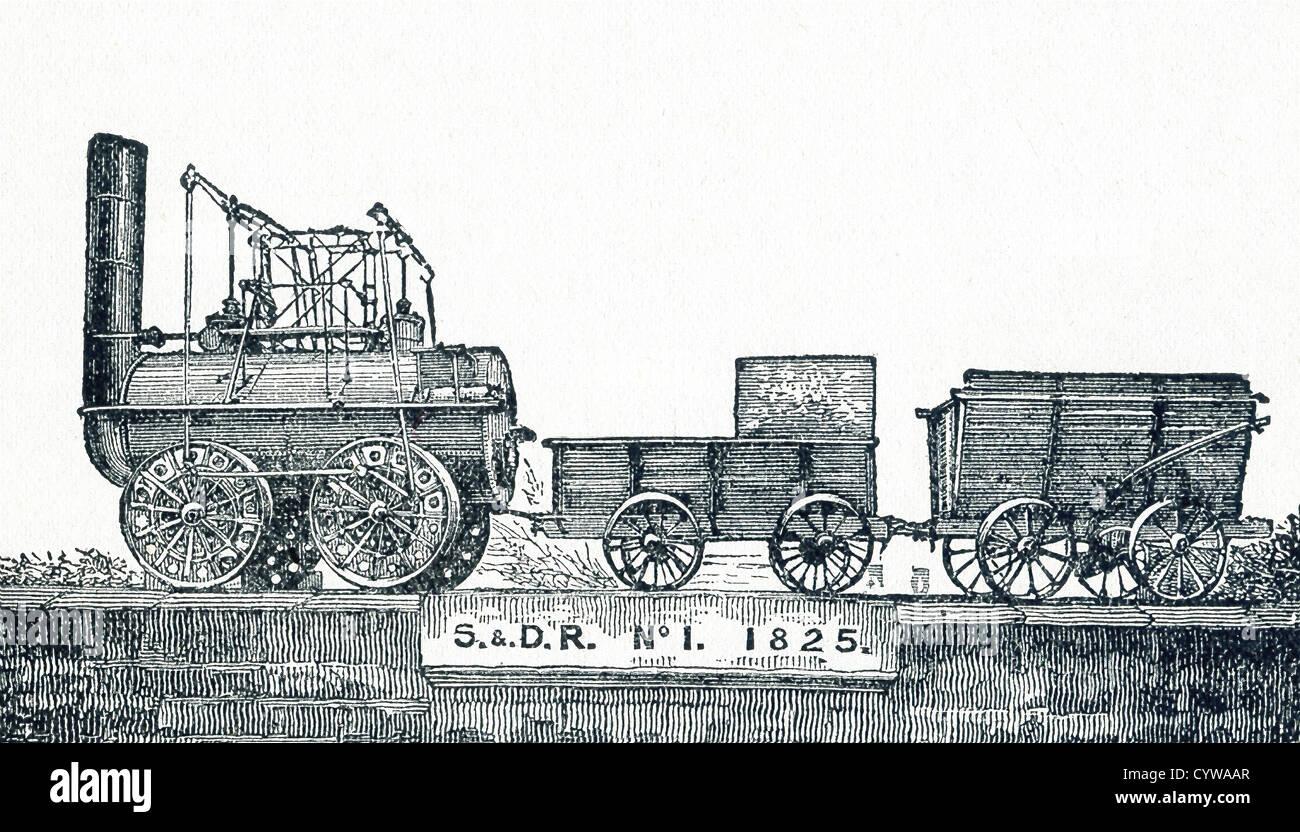 """La locomotion n° 1, à l'origine appelé """"Active"""", fut un des premiers trains de la locomotive à vapeur, construite Banque D'Images"""