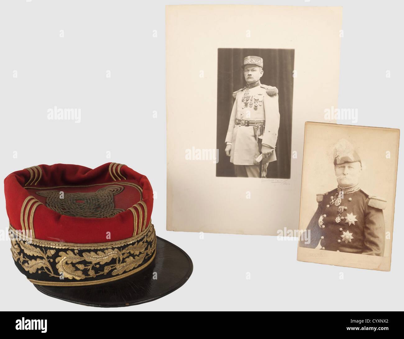 TROISIEME REPUBLIQUE 1870-1914, Képi de général de brigade, vers 1892-1900, calot et turban haut Photo Stock